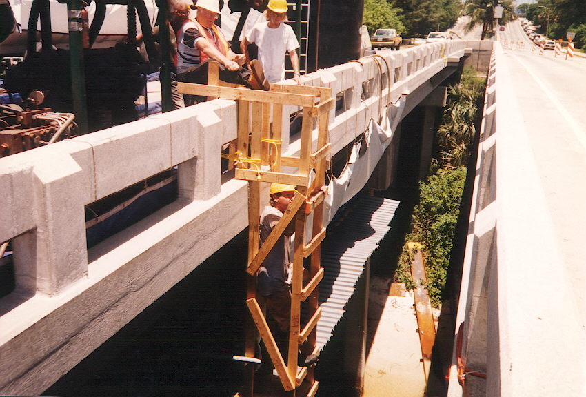 Getting water jet equipment into position.jpg