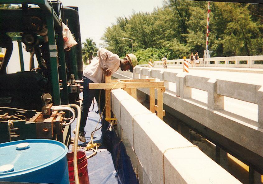 Suspending Water Jet Equipment under bridge.jpg