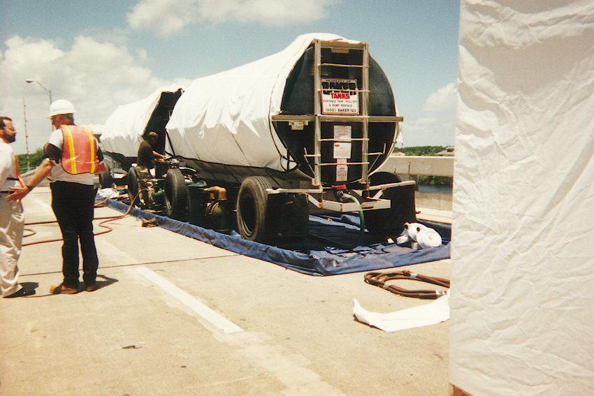 Water on bridge used in water jet operation.jpg